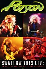 POISON 1991 SWALLOW THIS LIVE RARE PROMO POSTER ORIGINAL