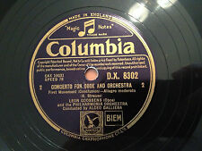 """""""Concerto For Oboe and Orchestra"""" (LEON GOOSSENS) 78rpm 12"""" Eng.1947 DX8302  NM"""