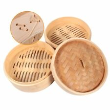Rice Basket Bamboo Steamer Chinese Traditional Cookware Kitchen Home Tools New