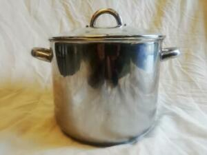 """28cm (11"""") STAINLESS STEEL STOCK POT WITH GLASS LID, HORWOOD"""