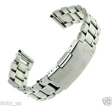 22mm Stainless Steel Watch Band Strap Straight End Wristwatch Men's Bracelet New