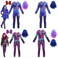 Descendants 3 Costume Kids Girls Mal Halloween Cosplay Jumpsuits+Gloves Outfits