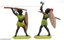 Zinnfiguren Zulu Krieger 2-teilig 62 mm handbemalt 51 g