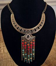 Bohemian/ Gypsy /Boho Metal Gold Necklace /Festival Hippie Ethnic NEW