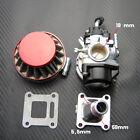 19mm Carburetor Carb Air Filter Inlet Mini Moto ATV Dirt Pocket Bike 47cc 49cc