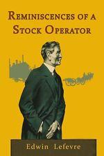 REMINISCENCES OF A STOCKBROKER by Edwin Lefevre (Book) - Brand New