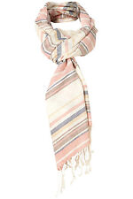 Topshop Multi Coloured Striped Print Tassle Scarf Scarves - One Size