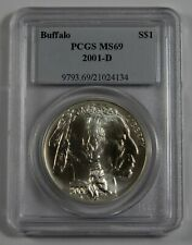 2001-D Silver Buffalo Commemorative Dollar PCGS MS69