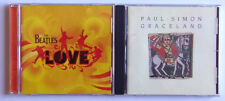 "Paul Simon - Graceland / The Beatles - Love "" Lot Of 2 Cd's Pop British Invasion"