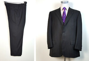 KITON 44R Cashmere Wool Suit Pleated Pants 38x30