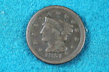 Estate Find 1851 Braided Hair Large Cent! #C2783