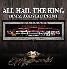 HOLDEN TORANA COMMODORE ACRYLIC ART PRINT - THE LION KING -  9 RACE CROWNS