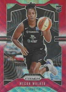 2020 WNBA PANINI PRIZM MEGAN WALKER RUBY WAVE PARALLEL ROOKIE CARD #97 LIBERTY