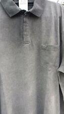 Camicie casual e maglie da uomo a manica corta grigia con colletto