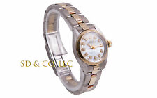 Rolex Ladies 2tone Oyster Perpetual Watch - MOP Diamond Dial - Oyster Band