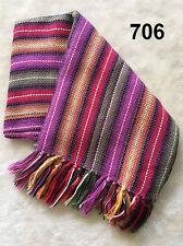 Alpaca Wool Scarf Shawl Handmade Colorful Pashmina Natural fibers /No synthetics