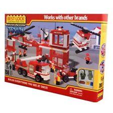 Best Lock Fire Station 750 Piece Building Blocks Set