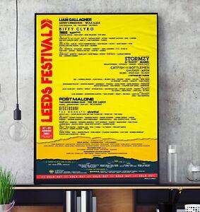 Reading Leeds Festival 2021 Line Up Poster Professional Print Fest August Bank