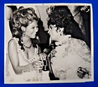 "Elizabeth Taylor Original Type 1 Press Wire Photo 7"" x 8"""