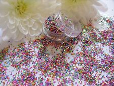 """NAIL ART MISTO """"Dots"""" Sparkle Glitter in polvere a trama grossa MIX POT Tip Per Unghie Decorazione"""