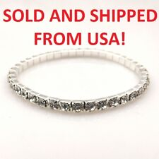 Clear Crystal Bracelet / Bangle Elastic - From USA - NEW!