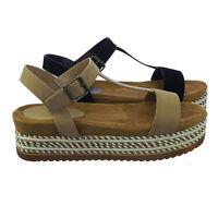 Riri08 Comfort Padded Espadrille Rope Flatform Platform Sandal