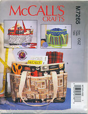MCCALL'S SEWING PATTERN 7265 PROJECT BAGS/TOTES FOR SEWING, KNITTING & CRAFTS