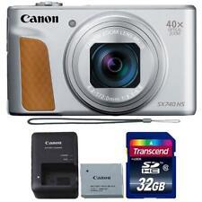 Canon PowerShot SX740 HS Digital Camera (Silver) + 32GB SDHC Memory Card