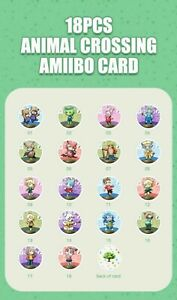 18pcs Animal Crossing Amiibo Card Nfc Card Work for Nintendo Switch 3DS