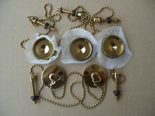 5 of top quality gold effect wash hand basin plug & chain