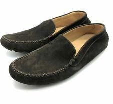 New John Lobb Mens Debranded Dark Brown Suede Travel Shoes Moccasins UK 5.5