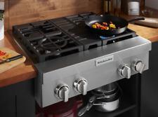 KitchenAid 30'' 4 Burner Commercial Style Gas Rangetop Cooktop Kcgc500Jss