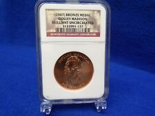 2007 Dolley Madison Bronze Medal Brilliant Uncirculated NGC