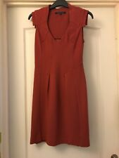 Ladies French Connection Paprika Red Stretch Dress 8