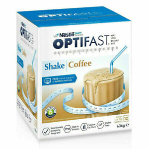 Optifast Coffee Shakes 12x53g Sachets Low Calorie Diet for Weight Loss