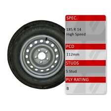 "TRIDENT 185R14C 5 Stud 112mm PCD 14"" Caravan Trailer Spare Wheel Tyre 8 Ply"