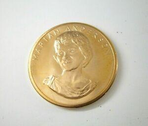 1980 American Arts Commemorative Series Marian Anderson Gold Medal Coin Gem BU