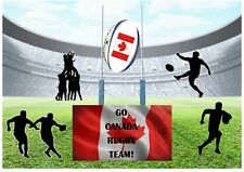 Go Canada Canadian Rugby Team! A4 Personalised EASY PEEL PRECUT Icing Sheet Cake