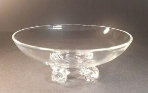 "Steuben Art Glass John Dreves Scroll Footed Bowl 8"""