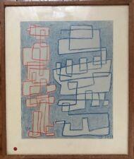 Belgique Expressionnisme Belge Moderne Pastel de 1931 signé H J Closon 1888-1975