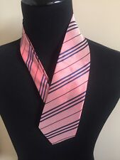 BURBERRY Pink Striped Tie