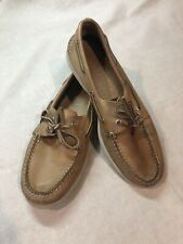 Sperry Top-Sider Men's 2 Eye Boat Shoes Size 11 M Leather Laces Brown