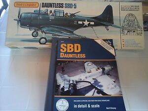 DAUNTLESS SBD-5 1/32 SCALE MATCHBOX MODEL+ BOOK DETAIL &SCALE + COCKPIT PLACARDS