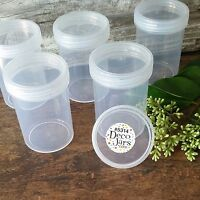 6 Plastic 3 ounce Food Spice Storage Jar Bottle DecoJars USA Reusable 5314 USA