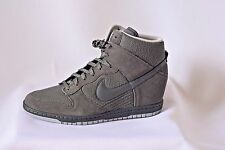 New women size 12 Nike Dunk Sky HI Essential Gray high top sneaker shoes