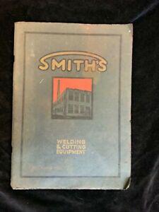 1926 SMITHS WELDING & CUTTING EQUIPMENT  CATALOG~CARBIDE GENERATOR~TORCHES