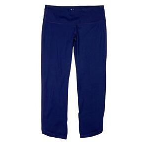 Old Navy Active Go-Dry Mid Rise Yoga Capri Leggings Navy Blue Womens S Small