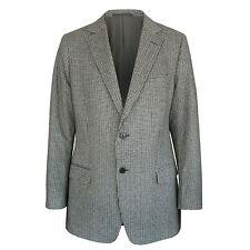 Z ZEGNA slim houndstooth wool angora two-button blazer sportcoat jacket 44/54 R