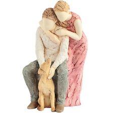 More Than Words 9584 Loyal Companion Couple with Dog Figurine