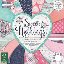 Premium Craft Cardstock First Edition 6x6 Designer Paper Pad - Sweet Nothings